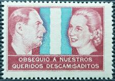 """Eva Peron & General Peron """"Queridos Descamisaditos"""" Stamps"""