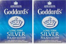 2x plata a largo plazo de Goddard Polaco Pulido deslustre Paño De Limpieza-Libre P&P