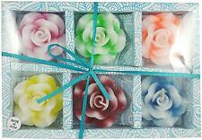 Diwali Decoration Rose Flower Shape Floating Candles Home Decor Set of 6
