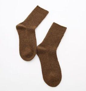 Womens 95% Merino Wool Comfortable Warm Soft Thick Casual Dress Solid Socks 5-8