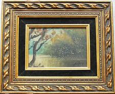 "Original Painting in gilt wood frame Signed ""Petri"""