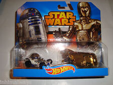 2014 HOT WHEELS STAR WARS R2-D2 & C-P30 CAR & DRAG BUS 2-PK. SET - RARE / HTF!