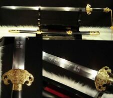 """100% Hand Forge Chinese Sword """"Qing Jian """"(劍) Carbon Steel Alloy Fitting"""