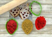 Biscotti cuor di fragola formine per biscotti cookie cutters tagliapasta