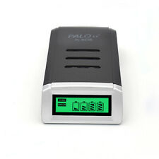 LCD 4Slots Battery Charger for Rechargeable Batteries Ni-MH Ni-Cd AA AAA US PLUG