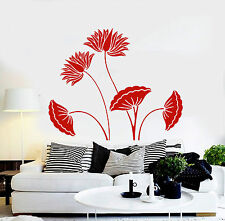 Vinyl Wall Decal Beautiful Flowers House Interior Room Stickers (ig4099)