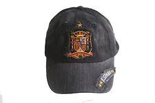 ESPANA SPAIN BLACK EMBOSSED ACID WASHED HAT CAP .. NEW