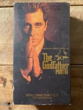 The Godfather Part Iii 3 (Vhs,2-Tape Set, 1991, Director's Cut)
