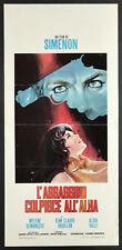 L'affiche du film L'ASSASSINO STRIKES ALL'ALBA demongeot, bouillon,valli,SIMENON