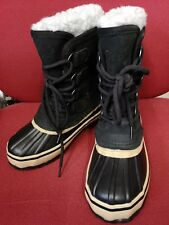 """NEW SEELAND MUSTANG 9"""" MENS WINTER LEATHER SNOW BOOTS UK 9 EU43 FIT LIKE UK 8"""