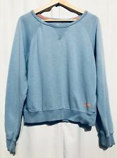 Superdry Orange Sewn Basics Sweatshirt Size Medium Womens Blue Crew Neck
