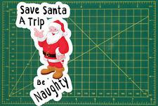 Salvare Babbo Natale un viaggio Divertente Muro Laptop Porta Tablet Auto LIBRO ADESIVI 150mm