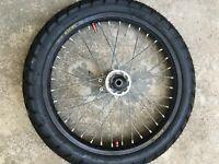 2004 04 Honda Crf450r Crf 450 Crf 450r Front Wheel Assembly Rim Hub Tire Spokes