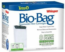 8-Pack Tetra Filter Whisper Bio-Bag Cartridge Medium Aquarium Fish Tank NEW