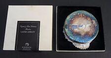 LAURA ASHLEY Rosaline Powder Bowl 24% lead crystal silver plated lid in box