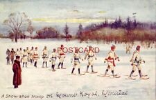 "1908 Tuck & Sons ""Oilette"" Postcard ""WINTER SPORTS - CANADA"" A SNOW-SHOE TRAMP"
