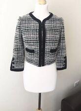 Topshop Bolero Tweed Wool Blend Blazer Jacket Size 6, Immaculate