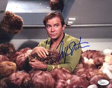(SSG) WILLIAM SHATNER Signed 10X8 Color Star Trek Photo - JSA (James Spence) COA