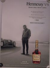 New Lot of 2 Store Display  Posters Decal  HENNESSY Nas Sir Malcom Campbell