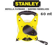 ROTELLA FATMAX NASTRO FIBERGLASS 2-34-824 metrica professionale 60 metri Stanley