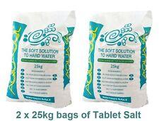 2 x 25kg (50kg) bags of Tablet salt - Water softener - Dishwasher salt - Aquasol