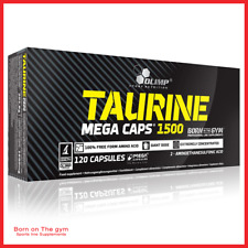 Olimp Taurine 1500 Mega Caps Amino Acids Energy Strength Booster 120caps