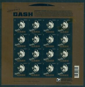 US 4789 Johnny Cash Forever Sheet/16, Mint NH, Free Shipping
