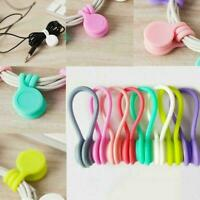 Magnetic Cable Clip Organizer Wire Cord Management Holder Winder Line C1M8