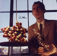 James D. Watson SIGNED 12x12 Photo Double Helix FULL LETTER PSA/DNA AUTOGRAPHED