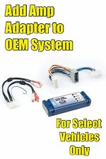 Chrysler Dodge Jeep Add An Amp Amplifier Adapter Interface for OEM Factory Systm