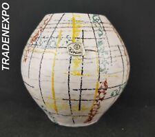 Vintage 60'-70s U-KERAMIK (UBELACKER) Beige Vase West German Pottery Fat Lava