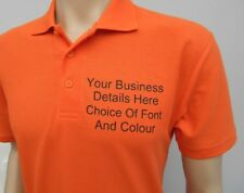 New Custom Printed Text Personalised Polo Shirt Work wear Uniform T-shirt to 3XL