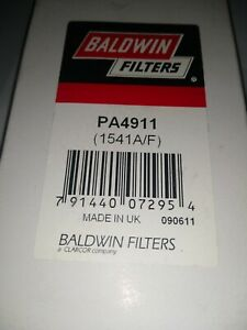 baldwin pa4911 secondary foam filter for air filter pa4754