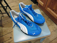 Running Shoes Puma UK 9  BNWOT. Removable Spikes with tool Blue & White