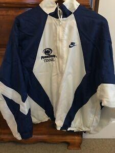 Nike Penn State Tennis Full Zip Jacket | Large L | White / Blue