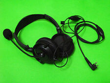 Great Headset Headphone W/ BOOM Mic For Motorola Two Way Radio VOX 2 PIN