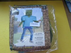 Minecraft Zombie Disguise Costume SMALL 4-6 BRAND NEW