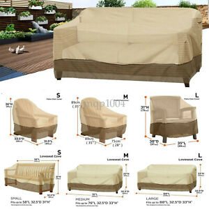 Dust Proof Protective Covers 124 X 63 X 29 Waterproof Outdoor Cover for Sofa Dining Table and Electrical Equipment FLYMEI Patio Furniture Cover Set
