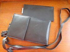 Rolfs MACRO Bag Black Leather Organizer Clutch to Crossbody Bag Detachable Strap