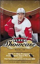 2015-16 Upper Deck Fleer Showcase Hockey sealed  hobby box