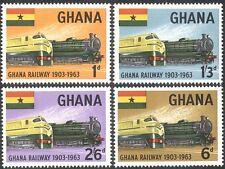 Ghana 1963 Trains/Steam Engines/Locomotives/Railway/Rail/Transport 4v set n42822