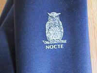 NOCTE Owl Motif Tie by Thresher & Glenny London