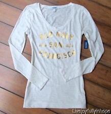 OLD NAVY ~ New NWT S M or L ~ San Francisco California Gold FOIL LOGO Slub Shirt