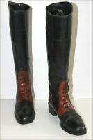 PIETRO DI ROMA Bottes Vintage Cavalières Tout cuir Bicolore T 36.5 TBE