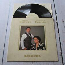 Freddie Mercury : Barcelona 1988 Spanish 1st Pressing Vinyl LP Spain Album Queen