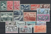 O136723/ FRANCE – AIRMAIL / LOT 1946 – 1985 MINT MNH CV 176 $