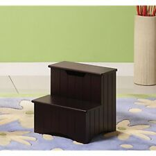 Kings Standing Shelf Units Brand Dark Cherry Finish Wood Bedroom Step Stool With