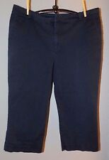 CHAPS by RALPH LAUREN Blue CROPPED Pants w/Stretch Size 16
