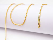 """1PCS 18"""" Jewelry 18K Yellow Gold Filled """"FOX TAIL"""" Necklaces Chain Lobster Clasp"""