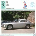AC ACECA 1954 1963 CAR VOITURE Great Britain GRANDE BRETAGNE CARD FICHE